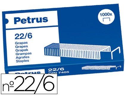 Petrus - Grapas nº 22/6 -caja de 1000 25 unidades