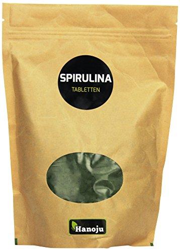 Hanoju Spirulina Premium 400 mg, 1250 Tabletten, 1er Pack (1 x 500 g)