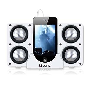 iSound Quad-X Portable Speaker System (White)