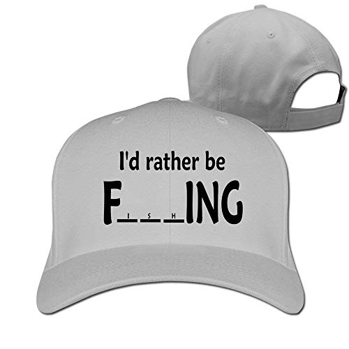 I D Rather Be FishingHat Baseball Caps Ash