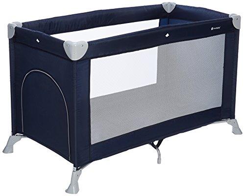 MON BEBE Lit parapluie bébé ultra léger pliable avec sac de transport - Navy Blue
