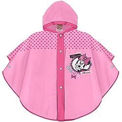 Perletti Poncho Impermeable De Niña Disney Minnie Mouse Color Rosa De 3 - 6 Años