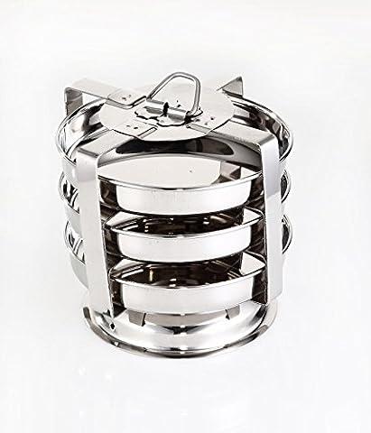 Embassy Stainless Steel Dhokla/Thatte/Plate Idli Maker  14.5 cm Plate   3 Plates, 3 Idlis