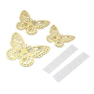 12 pcs G-006 Métallique Sens 3D Papillon Autocollants Creux DIY Décalque À La Maison Enfants Chambres Mur Décor Fête De Mariage Décoration