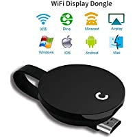 YEHUA Wireless Display Dongle 2.4G 1080P HDMI Video Trasmettitore e Ricevitore Condividi i contenuti multimediali da iPhone iPad Samsung Andorid a TV Monitor Proiettore, supporta Miracast Airplay/DLNA