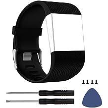 DD pour Fitbit Surge Bracelet, Silicone Ajustable Remplacement Band pour Fitbit Surge Montres