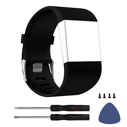DD für Fitbit Surge Armband, Silikon Verstellbarer Ersatzarmband für Fitbit Surge Activity Tracker