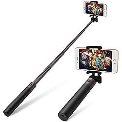 Bluetooth Selfie Stick Alliage D'aluminium-Yarrashop Selfie Sticks Pour iPhone X/10, iPhone 8 8 Plus/7 7 Plus / 6s 6s Plus, Samsung Galaxy S9 / S9 Plus, S8 /S8 Plus, Bord S7 S6 Edge, Note 8, Huawei Et La Plupart Des Téléphones(Gun Noir)