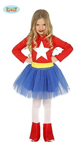Guirca Superheldin Kostüm für Mädchen Gr. 98-146, Größe:110/116