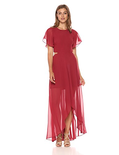 Ali & Jay Damen Bohemian Rhapsody Short Sleeve Maxi Dress with Cut Out Back Kleid, Dusty Rose, X-Klein (X-back-maxi Kleid)
