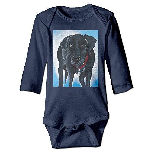 VTXWL Unisex Infant Bodysuits Black Lab Boys Babysuit Long Sleeve Jumpsuit Sunsuit Outfit Navy