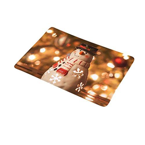 Gaddrt Weihnachten Home Rutschfeste Tür Fußmatten Hall Teppiche Küche Bad Teppich Decor (G)
