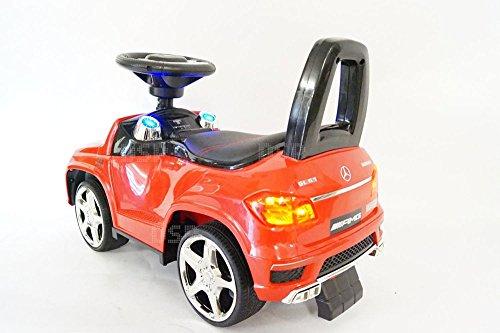Rutschauto lizenzierte Mercedes GL63 AMG Rutschfahrzeug mit Ledersitz und Licht Kinderauto Rutscher Lauflernhilfe - 2