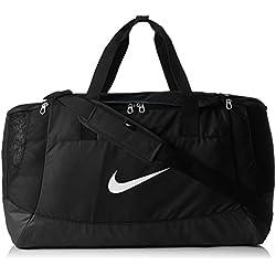 Nike Club Team Swoosh Duffel L Bolsa de deporte, 58 cm, liters, Negro (Schwarz)