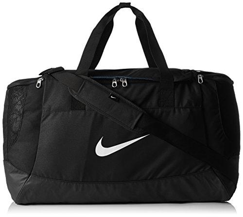 Laufen Sporttasche (Nike Tasche Club Team Duffel, black/white, 58 x 38 x 29 cm, 58 Liter, BA5192-010)
