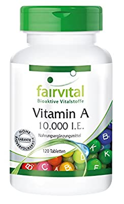 Fairvital - Vitamin A 10,000 IU - High Dosage - 120 Tablets by fairvital