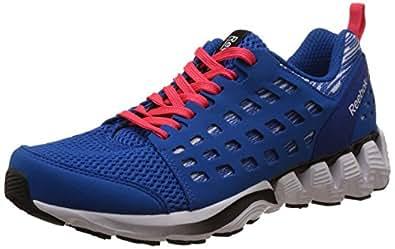 Reebok Men's Zigtech Doom 2.0 Blue, White, Blue, Red and Black Running Shoes - 11.5 UK