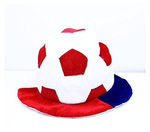 ZaPro Fan Hut/Deutschland Russland Frankreich Kroatien/Sonnen Schutz Accessoires/Mann Frau Kinder Fan/WM EM Sport Fußball Fussball 2018 (Frankreich)