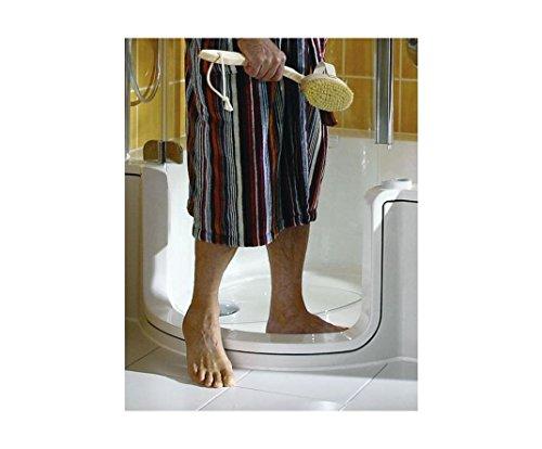 Preisvergleich Produktbild Artweger Twinline 1 Dusch Badewanne 170 cm mit Glasfront Tür Kombiwanne Duschabtrennung weiss Schürze befliesbar Sytropor