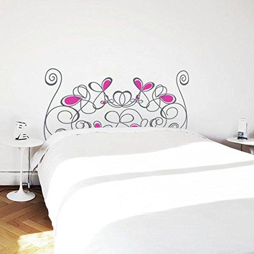 Cabecera pegatinas de pared, Cabecera en vinilo decorativo adhesivo 1,10*58CM