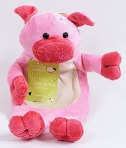 Bouillote Enfant Revêtement Animaux de La Ferme Sympathique et Doux Bouteille Eau Chaude : Cochon (1 Litre)