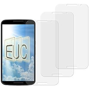 3 x Displayschutzfolie klar/wie unsichtbar für Motorola Google Nexus 6