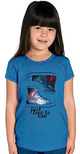 Galaxy Sneakers Just Love To Run Girls T-shirt 12+ yrs (T-shirt College-student-mädchen)