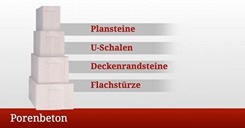 1 Palette mit 208 Porenbetonsteine Porenbeton Plansteine PP2/0,4 - 5,5 x 19 x 62,5 cm / 24,70 qm, frachtfrei