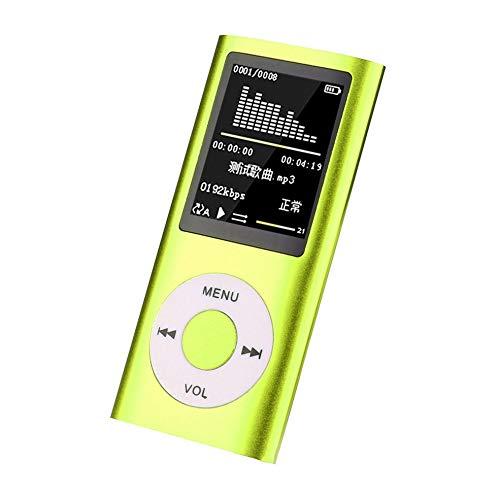 CHOULI MX-890 MP3/MP4 Player with Micro SD Card Mini USB Port Digital Music Player Green Digital Pocket Viewer