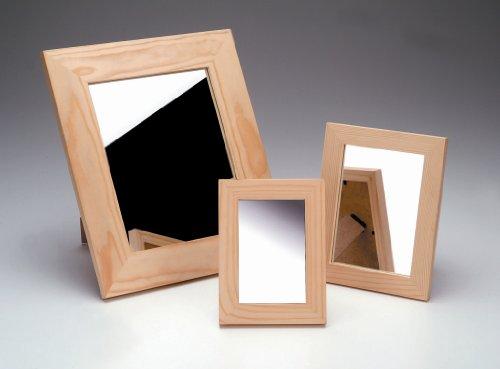 GLOREX Spiegel Holzrahmen, FSC, Kiefer, Holz und Glas, Natur, 13,5 x 19,5 x 1 cm -