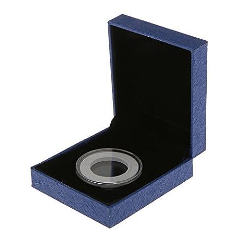 Ecrin de Monnaies Numismatique Pour 38MM Pièces Commémoratives Boîte de Collection Cadeau Boîte - Bleu, 68X49cm