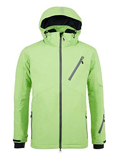 Jeff Green Herren Atmungsaktive Wasserdichte Winter Ski Snowboard Jacke Helsinki 12.000mm Wassersäule Abnehmbare Kapuze, Größe - Herren:58, Farbe:Kiwi -