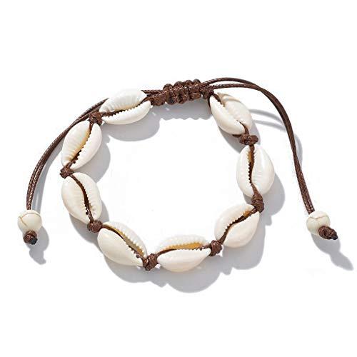 QY-NINHAO Natürliche Kauri Perlen Shell Fußkettchen Armband Handmade Hawaiian Beach Fußschmuck