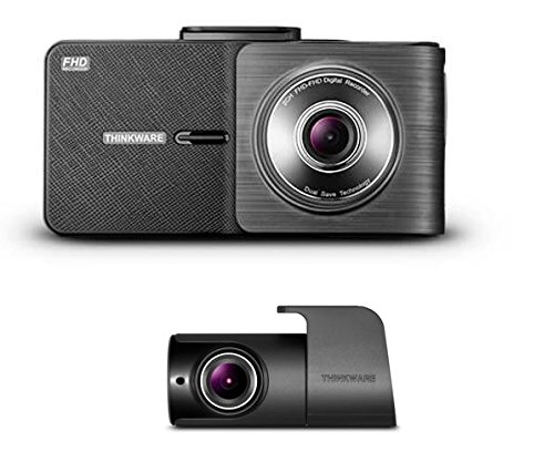 Thinkware X550 Full HD 1080p Front and Rear Dash Cam 32GB with Rear-View Camera, Parking Mode, Super Night Vision, Built-In GPS, Safety Camera Alerts, Road Safety Warning Systems, Integrated Thermal Protection, 3-Axis G-Sensor, Dual Save Technology, Time