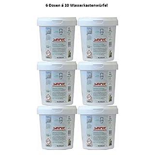 6 Dosen á 10 St. Sanit Wasserkastenwürfel für Geberit, TECE, Sanit, uva.