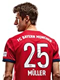 FC Bayern München Trikot Home, Thomas Müller, Rückennummer mit Unterschrift auf Flock, Jersey 18/19 Größe S