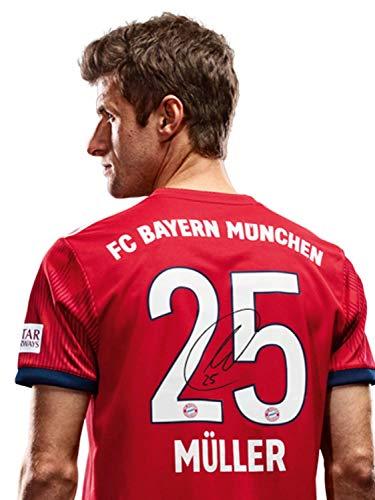 FC Bayern München Trikot Home, Thomas Müller, Rückennummer mit Unterschrift auf Flock, Jersey 18/19 Größe XXL