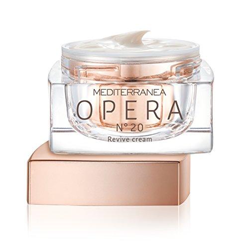 Mediterranea - Opera N°20 Revive Cream - Crema Viso Anti-age Energizzante, Antiossidante - Texture Revitalizzante Anti-Età Effetto Seta - Trattamento Pelle Giorno e Notte - 50 ml