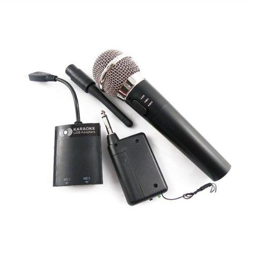 Lujex Wireless/Funk USB Karaoke Mikrofon Mikrofon-Set für Wii/PS3/PS2/Xbox 360
