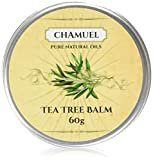 TEA TREE OIL BALM by Chamuel-100% All Natural Relieves Common Skin Irritations. Very Versatile -Great for Eczema, Rashes, Dry Chapped Skin, Itchy Insect Bites, Cuticles, and more! Guaranteed.