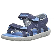 Timberland Unisex Kids' Perkins Row 2-Strap juniors Sandals, Blue (Vintage Indigo Ek4), 1.5 UK 34 EU