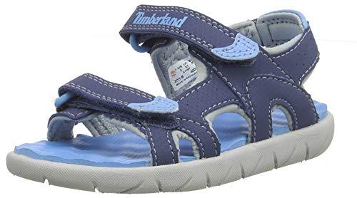 Timberland Perkins Row 2-Strap, Sandali a Punta Aperta Unisex-Bambini, Blu (Vintage Indigo Bt4), 38 EU