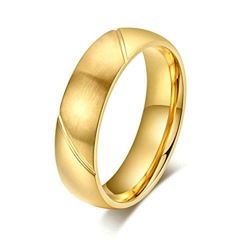 AMDXD Gioielli Acciaio Inossidabile Uomo Fedi Nuziali Oro Saia Disegno Dimensione 22 - 14k Dell'anello Indiano