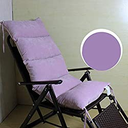 LIVEINU Lavable Cojín para Banco de Jardín con Cordón Cojín de Balancines Mecedoras Silla Gravedad Cómodo Acolchado Banco de Jardín Terraza o Balcón 120x50cm Púrpura