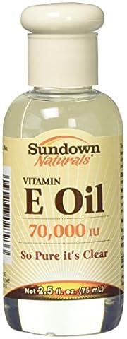 Rexall Sundown Naturals, Vitamin E Öl, 70.000 IU, 2,5 Flüssigunzen (75 ml)
