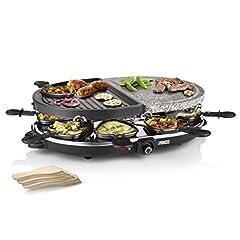 Idea Regalo - Princess 01.162710.01.001 8 Oval Stone & Grill Party Combinazione di Raclette/Barbecue, 1200 W