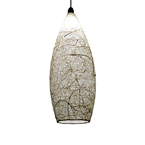 Salebrations Hanging Cocoon Lamp Shades Yarn With Banana Fiber And Holes