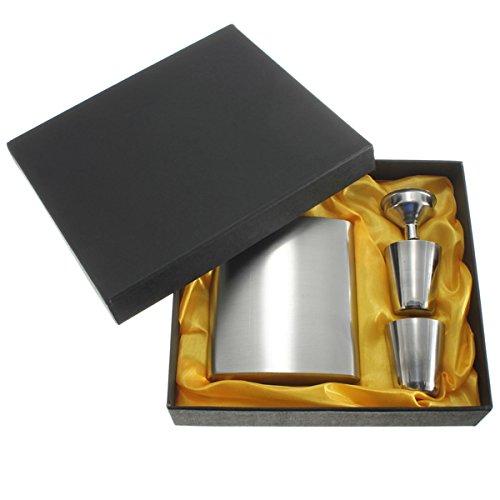 Yongse Botella portátil de acero inoxidable del pote del vino del whisky de la vodka de la garrafa frasco de la cadera Caja de regalo