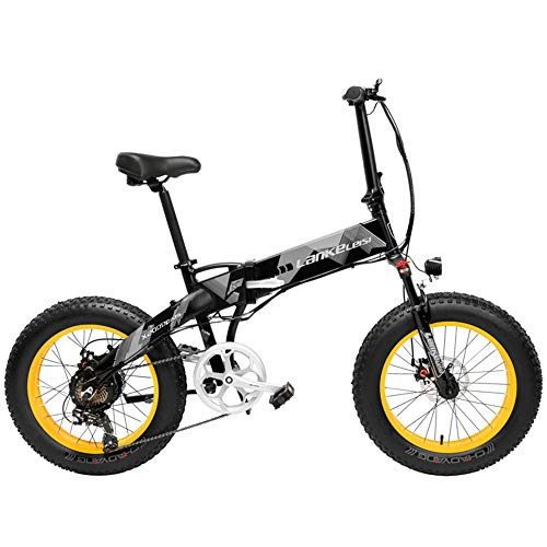 LANKELEISI X2000 20 Pulgadas Bicicleta Grasa Plegable