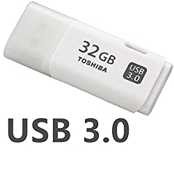 Toshiba 32GB TransMemory U301 USB 3.0 Metal Tip Pendrive for Better Longetivity (White)
